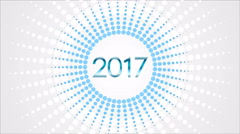 Happy 2017 New Year video animation Stock Footage