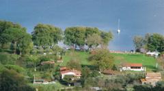View Above Bracciano Lake Stock Footage