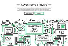 Advertising and Promo - line design website banner Piirros