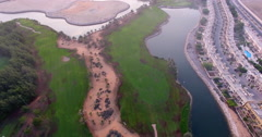 Al Hamra village and golf course Ras Al Khaimah Stock Footage