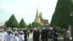 Thai King's Death Grand Palace Stock Footage