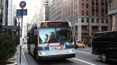 M1 Bus on 5th Ave. Manhattan Stock Footage