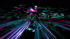 VJ Loop Chaotic Bits Stock Footage
