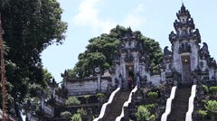 Entrance to the Hindu temple. Bali, Indonesia. Balinese religion place Stock Footage