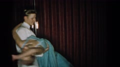 1965: retro couple dancing the night away SAINT LOUIS MISSOURI Stock Footage