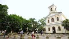 Timelapse Church in Macau; Our Lady of Carmel Church Stock Footage