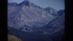 1959: large blue mountain range with rifts, cliffs, and valleys COLORADO Stock Footage