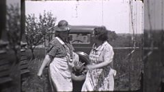 Rural Country Women Dance Dancing 1930s Vintage Film Home Movie Stock Footage