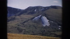 1959: a beautiful mountainous landscape at high altitude with some snow fall Stock Footage