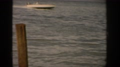 1959: man waterskiing on a lake COLORADO Stock Footage