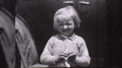 Little Blond Girl Great Depression Era USA 1930s Vintage Film Home Movie 10258 Stock Footage