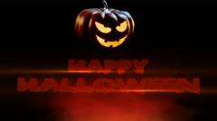 Happy Halloween Spooky Jack O Lantern Stock Footage