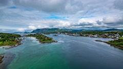 Bronnoysund Norway timelapse Stock Footage