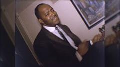 African American Black Man Dancing the Twist 1960s Vintage Film Home Movie 10253 Stock Footage