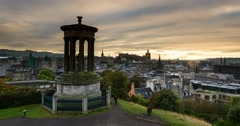 Edinburgh calton hill Stock Footage