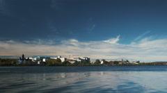 Fredericton, New Brunswick City Skyline in Autumn. Stock Footage