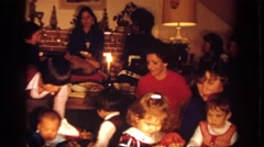 1972: family is all that matters for the holidays, family reunion Stock Footage