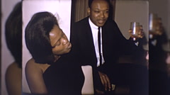 African American Young Black Men Women Party 1960s Vintage Film Home Movie 10249 Stock Footage