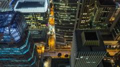 Downtown Singapore Cityscape Traffic Shenton Way & McCallum St. 4K UHD Stock Footage