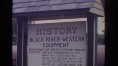 1972: history for using black river western equipment about the details Stock Footage