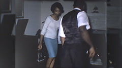 African American Black Couple Man Woman Dance 60s Vintage Film Home Movie 10247 Stock Footage
