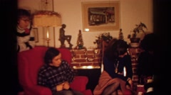 1972: relatives visiting one another during a holiday. PHILADEPHIA PENNSYLVANIA Stock Footage