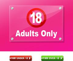 Adults only access Stock Illustration
