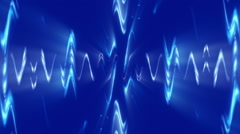 Blue abstract background, moving waves, loop Stock Footage