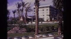 1973: palm tree laden beach vacation spot NAPLES FLORIDA Stock Footage