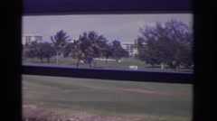 1973: the view of the road to the city from the balcony. NAPLES FLORIDA Stock Footage