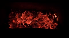 Smouldering coals. Good texture hell for Motion Designers Stock Footage