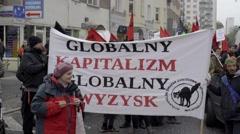 DEMONSTRATION AGAINST CETA, TTIP Stock Footage