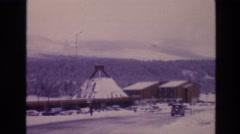 1974: snowy village at rest. VAIL COLORADO Stock Footage