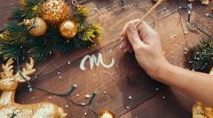 Christmas card / screen saver. New Year card / screen saver. Stock Footage