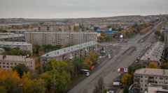 Provincial Russian city center Stock Footage