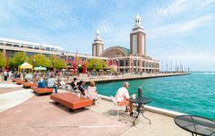 Famous Navy Pier, Chicago, USA Stock Photos