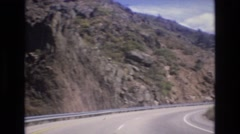1973: driving down the mountain. COLORADO Stock Footage