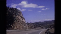 1973: a beautiful land with mountains, fields under the blue sky COLORADO Stock Footage