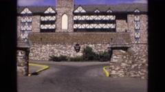1973: old brick stone building COLORADO Stock Footage