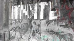 Take away and divide Dark Undeground graffiti 4K Stock Footage