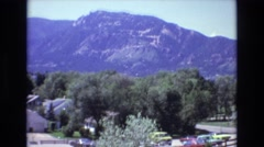 1973: aerial view of a housing community. COLORADO Stock Footage