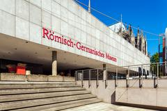 COLOGNE, GERMANY - APRIL 9, 2008: Building of Romano-Germanic  Museum Stock Photos
