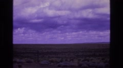 1973: open viewing of the desert plains. NEW MEXICO Stock Footage
