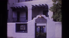 1973: viewing of a nice hotel entrance. NEW MEXICO Stock Footage