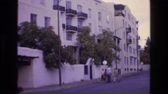 1973: there is nothing else to do i will go walking with you, street view Stock Footage