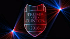 Shield Trump vs. Clinton 2016 Stock Footage