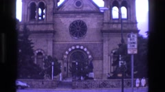 1973: church with men and women, vintage clip Stock Footage