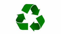 Recycle icon animation with shaded green arrows Stock Footage