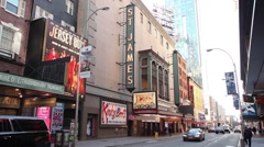 St. James Theater New York Stock Footage