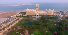 Panning shot of Waldorf Astoria Ras Al Khaimah Stock Footage